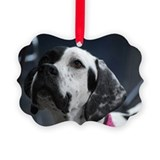 Pointer dog Picture Frame Ornaments