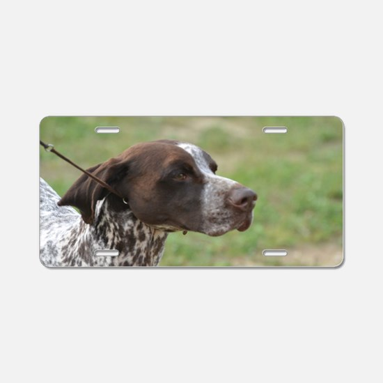 Pointer Dog Aluminum License Plate