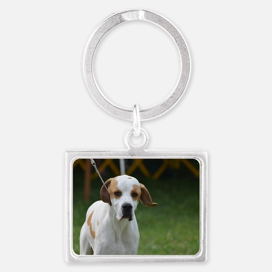 Sweet Portuguese Pointer Landscape Keychain