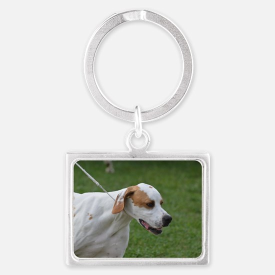 Profile of a Portuguese Pointer Landscape Keychain