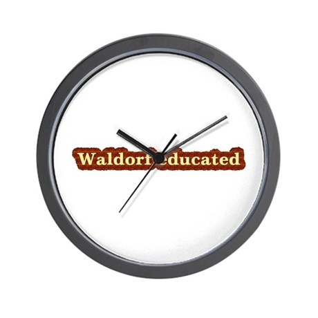 Waldorf educated Wall Clock