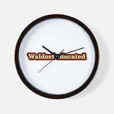 Waldorf educated Wall Clock