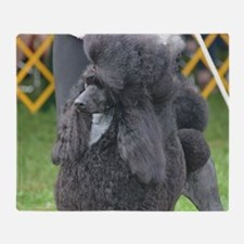 Poised Poodle Throw Blanket