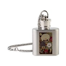 happy mom Flask Necklace