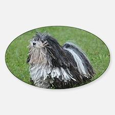 Adorable Puli Dog Sticker (Oval)
