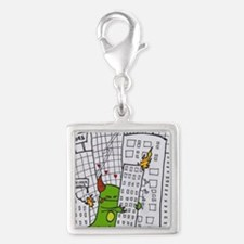 crush me Silver Square Charm