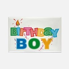 Birthday Boy Letters Rectangle Magnet