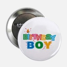 Birthday Boy Letters Button