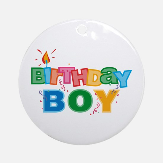 Birthday Boy Letters Ornament (Round)