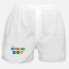 Birthday Boy Letters Boxer Shorts