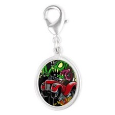 monster DnF Silver Oval Charm