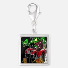 monster DnF Silver Square Charm