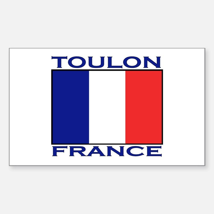 Toulon, France Rectangle Decal