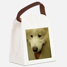 Cute White Samoyed Dog Canvas Lunch Bag