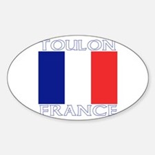 Toulon, France Oval Decal