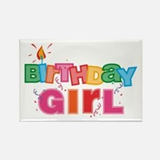 Birthday Girl Letters Rectangle Magnet