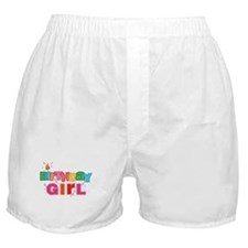 Birthday Girl Letters Boxer Shorts