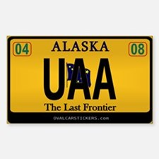 Alaska License Plate Sticker - UAA