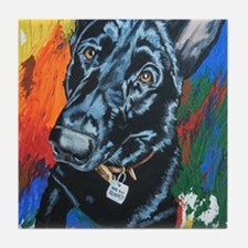 Grafitti German Shepherd Tile Coaster