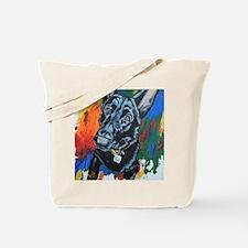 Grafitti German Shepherd Tote Bag