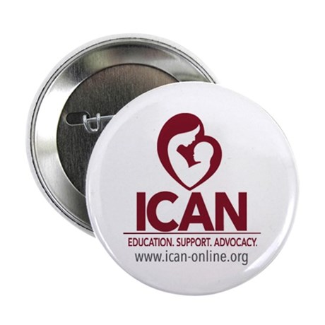 """ICAN logo box 2.25"""" Button"""