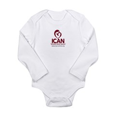 ICAN logo box Body Suit