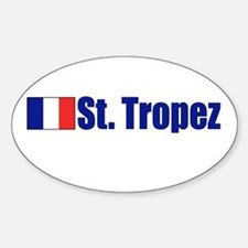 St. Tropez, France Oval Decal
