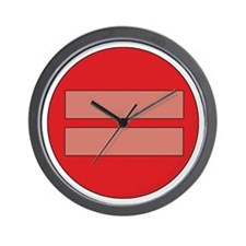 Equality symbol Wall Clock