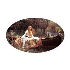 Lady of Shalott Oval Car Magnet