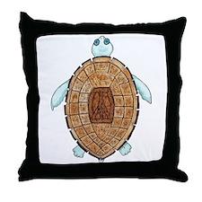 Peace Turt Throw Pillow