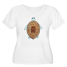 Peace Turt Plus Size T-Shirt
