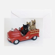 CairnTerrier Fire Crew Greeting Cards (Pk of 10)