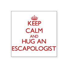 Keep Calm and Hug an Escapologist Sticker