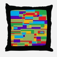 Green, red, purple, aqua and yellow g Throw Pillow