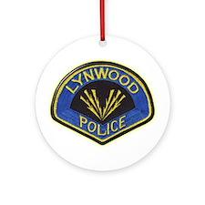 Lynwood Police Ornament (Round)