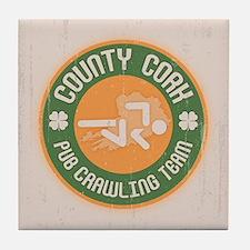 Cork Crawling Team Tile Coaster