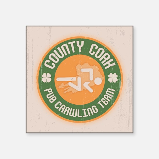 "Cork Crawling Team Square Sticker 3"" x 3"""