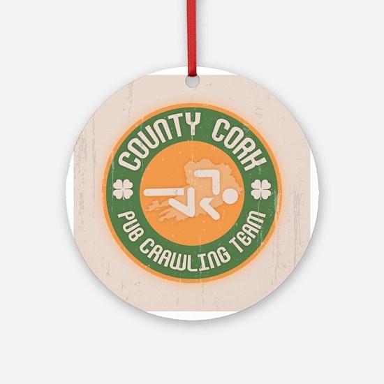 Cork Crawling Team Ornament (Round)
