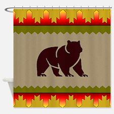 Woodland Bear Shower Curtain