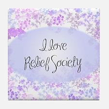 I love Relief Society Tile Coaster