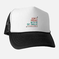90 Degree Angle Trucker Hat