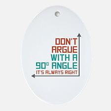 90 Degree Angle Ornament (Oval)