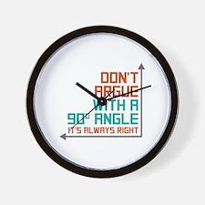 90 Degree Angle Wall Clock