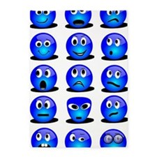 Blue Smiley 5'x7'Area Rug