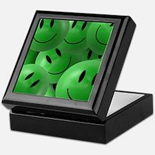 Green Smiley Keepsake Box
