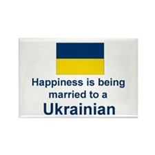 Happily Married To Ukrainian Rectangle Magnet