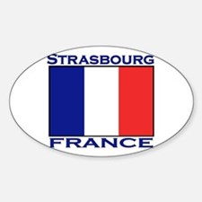 Strasbourg, France Oval Decal