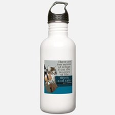 Cats and Music Water Bottle