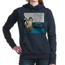 Cats and Music Hooded Sweatshirt