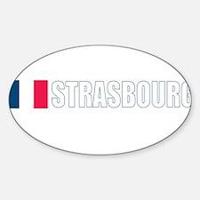 Strasbourg, France Oval Decal